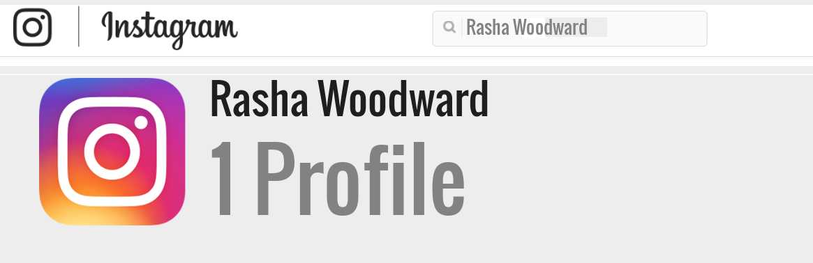Rasha Woodward instagram account