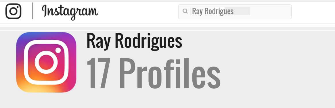 Ray Rodrigues instagram account