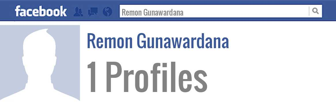 Remon Gunawardana facebook profiles
