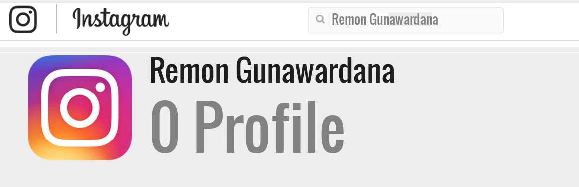 Remon Gunawardana instagram account