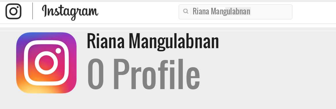 Riana Mangulabnan instagram account