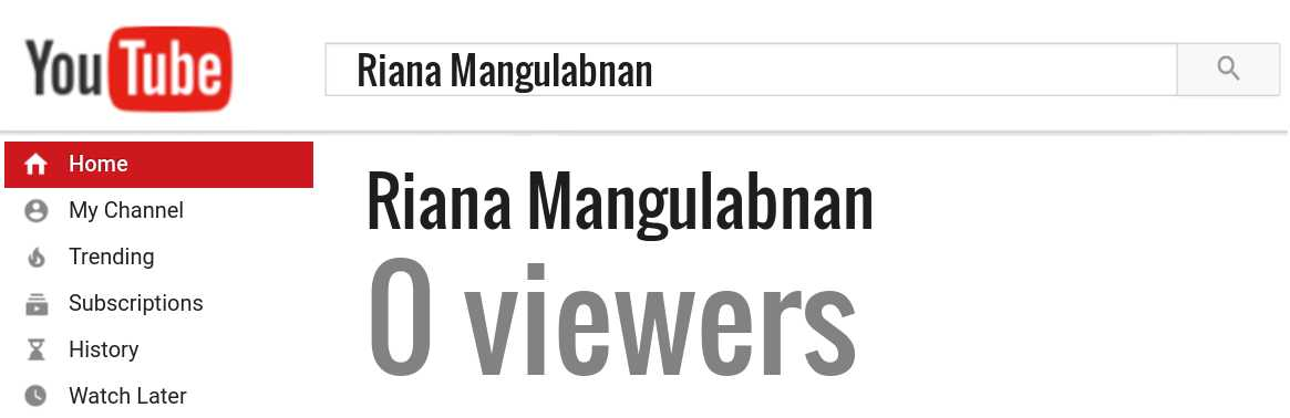 Riana Mangulabnan youtube subscribers