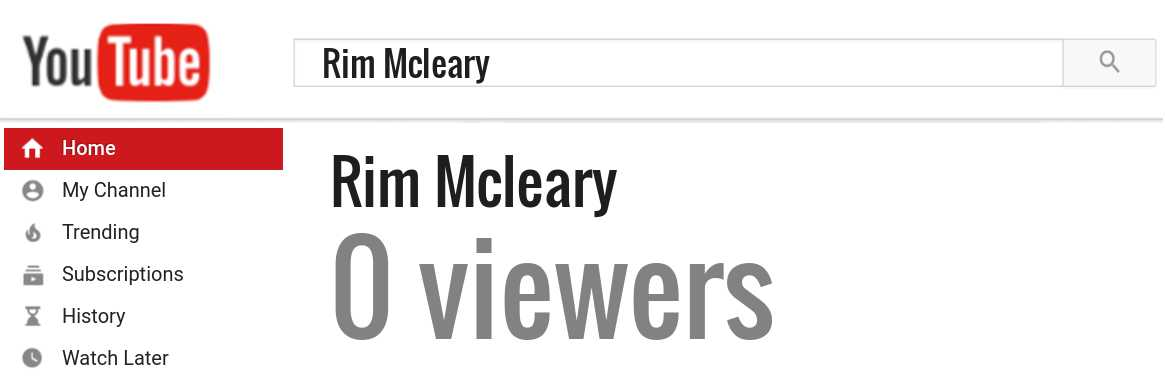 Rim Mcleary youtube subscribers