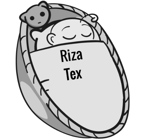 Riza Tex sleeping baby