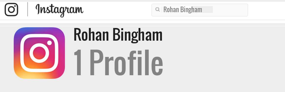 Rohan Bingham instagram account