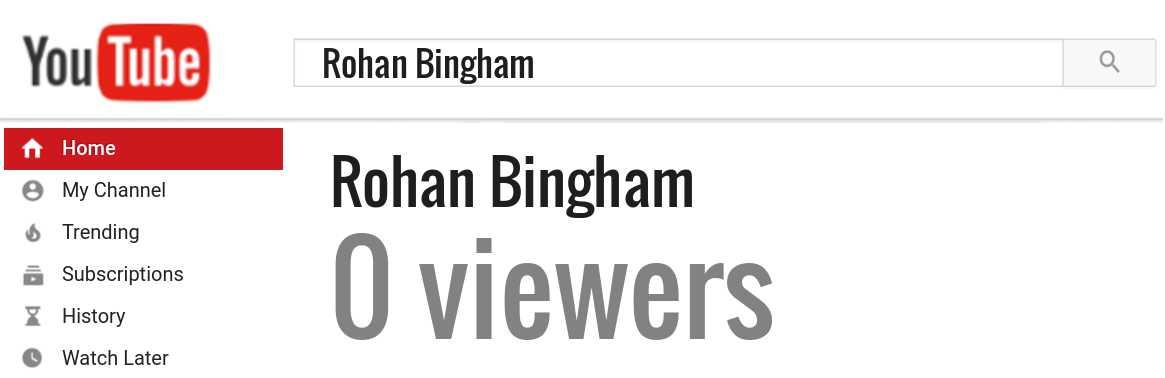 Rohan Bingham youtube subscribers