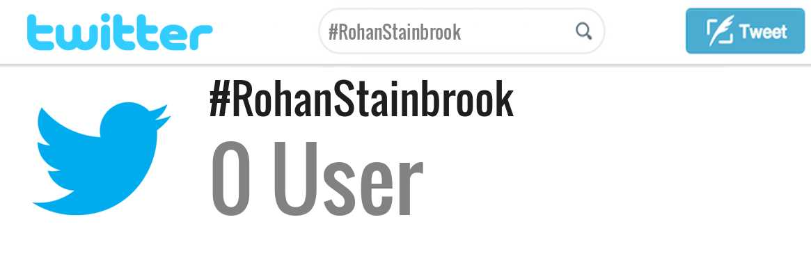 Rohan Stainbrook twitter account