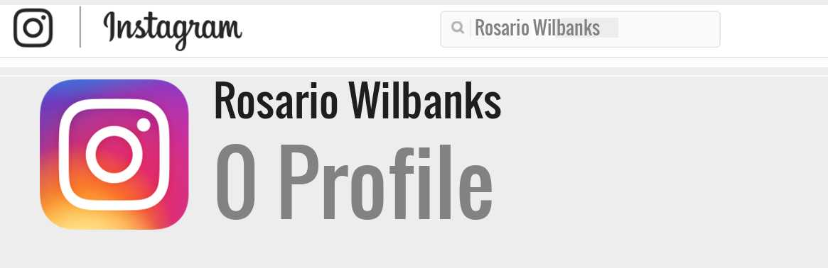 Rosario Wilbanks instagram account