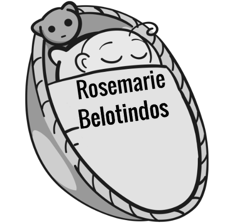 Rosemarie Belotindos sleeping baby