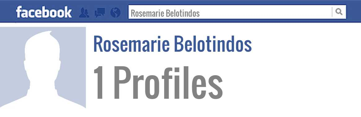 Rosemarie Belotindos facebook profiles