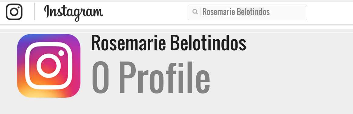 Rosemarie Belotindos instagram account