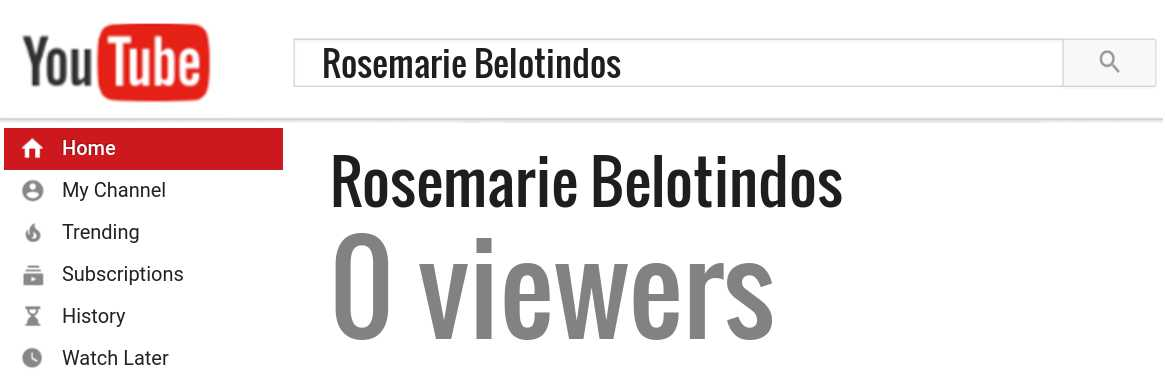 Rosemarie Belotindos youtube subscribers