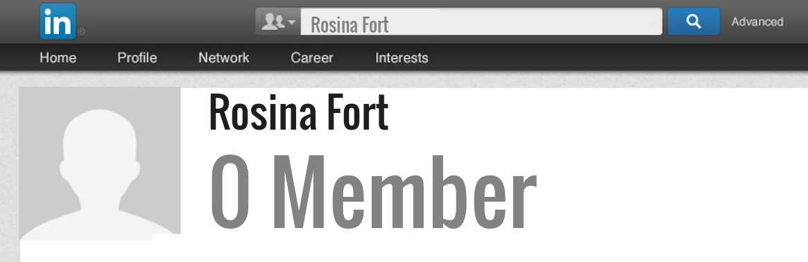 Rosina Fort linkedin profile