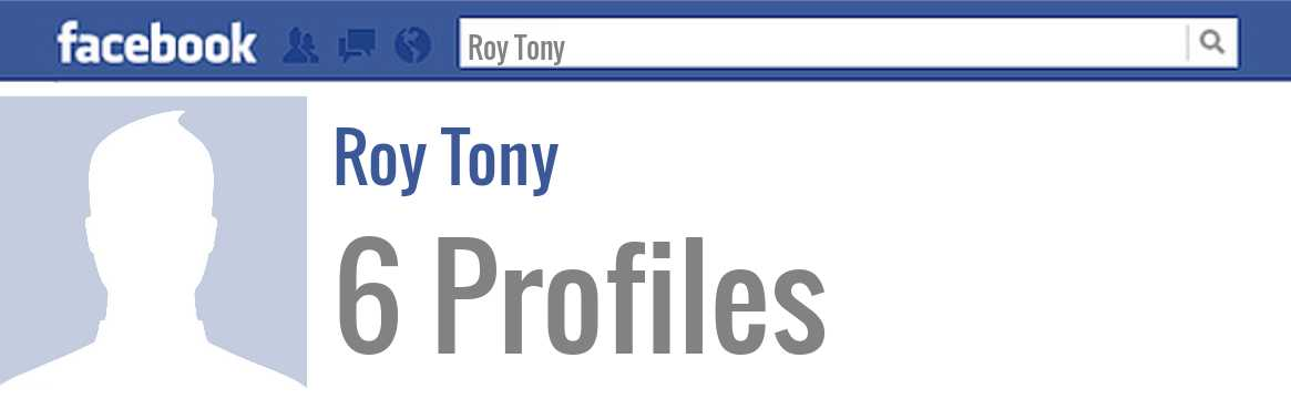 Roy Tony facebook profiles