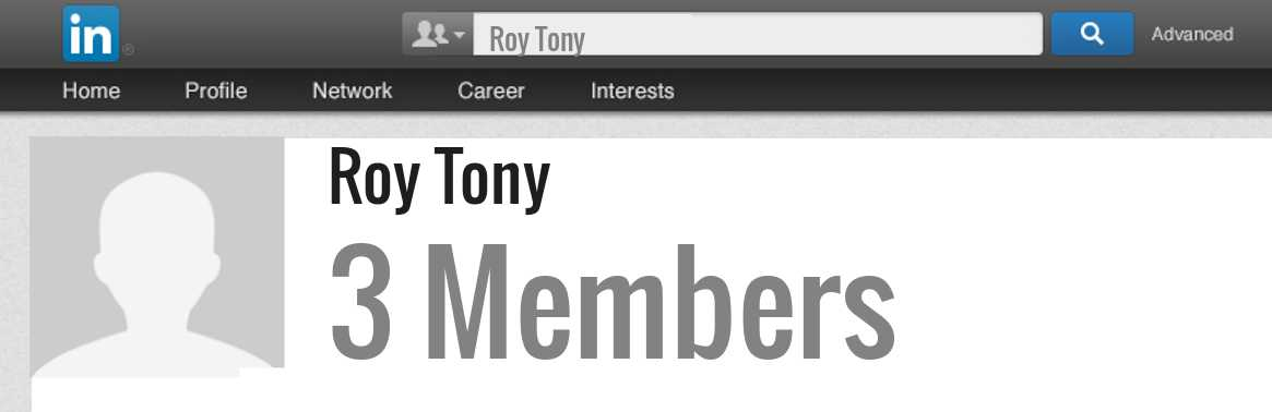 Roy Tony linkedin profile