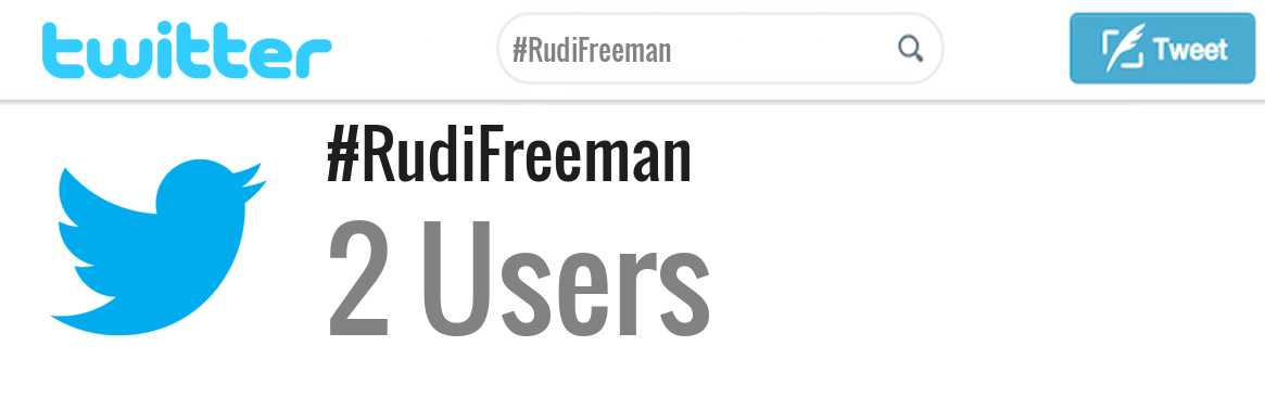 Rudi Freeman twitter account