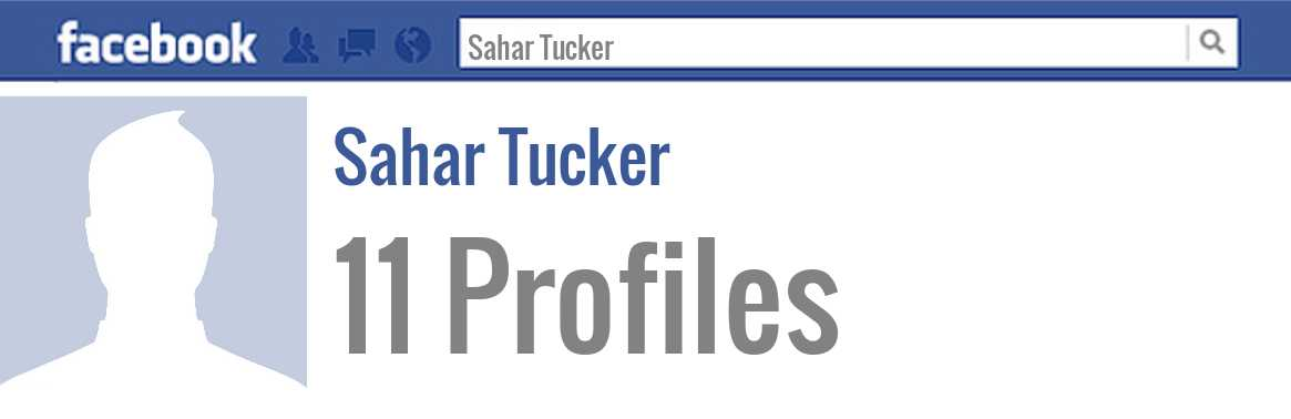 Sahar Tucker facebook profiles