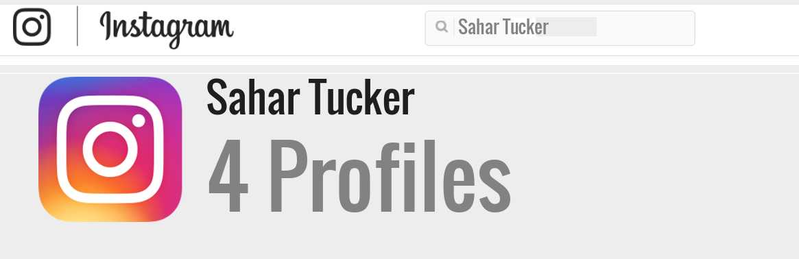 Sahar Tucker instagram account