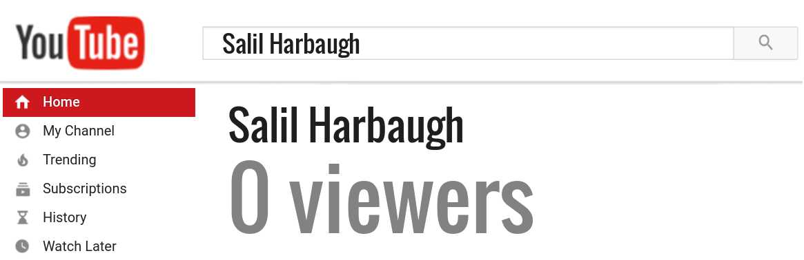 Salil Harbaugh youtube subscribers