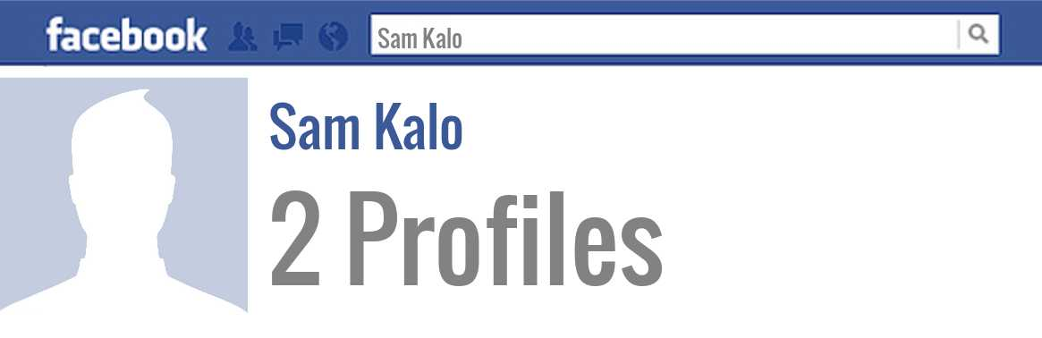 Sam Kalo facebook profiles
