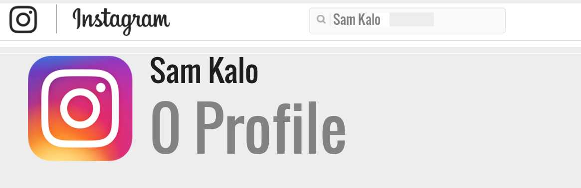 Sam Kalo instagram account