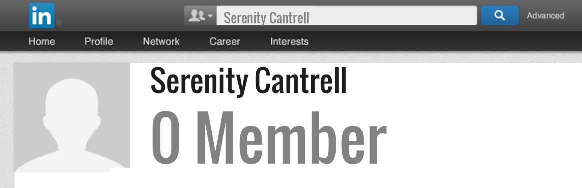 Serenity Cantrell linkedin profile