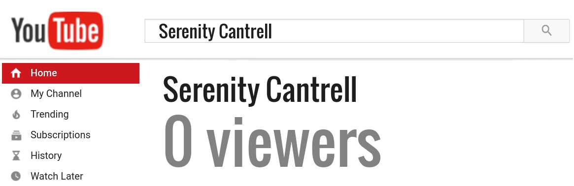 Serenity Cantrell youtube subscribers