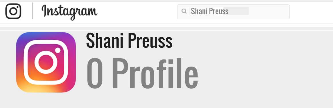 Shani Preuss instagram account
