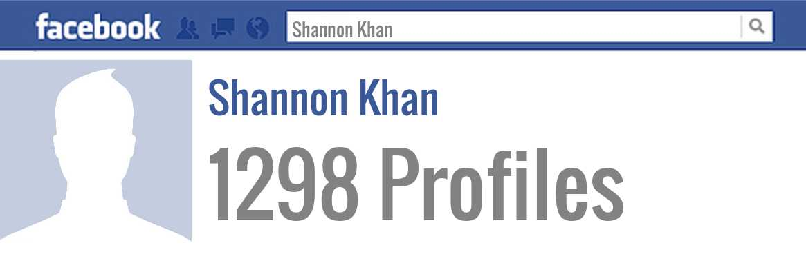 Shannon Khan facebook profiles