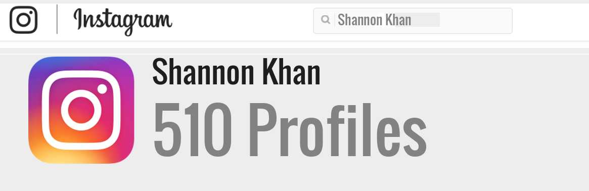 Shannon Khan instagram account