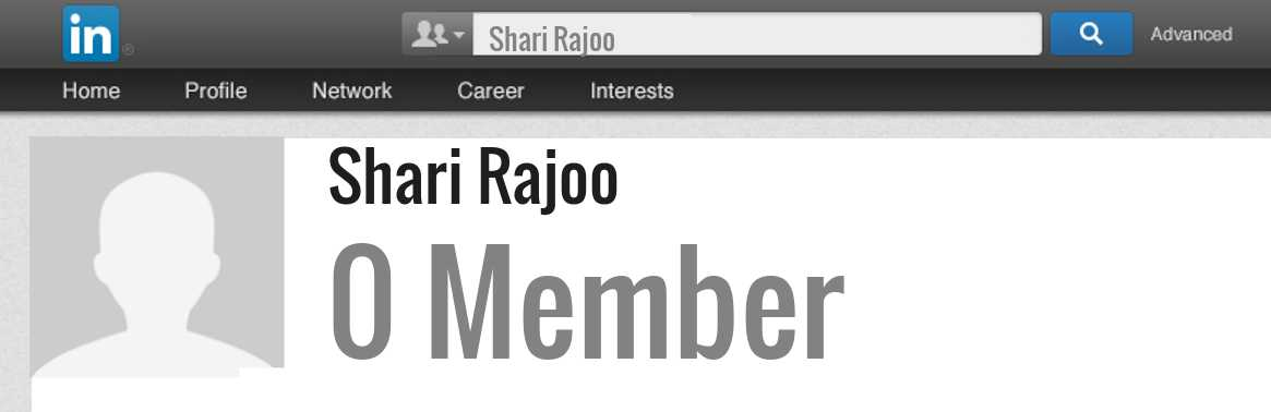 Shari Rajoo linkedin profile