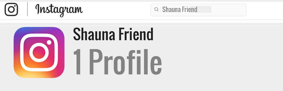 Shauna Friend instagram account