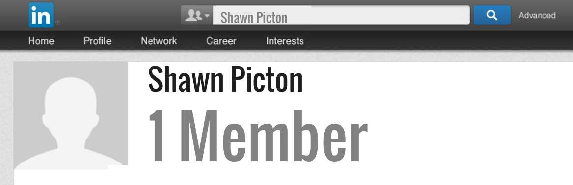 Shawn Picton linkedin profile