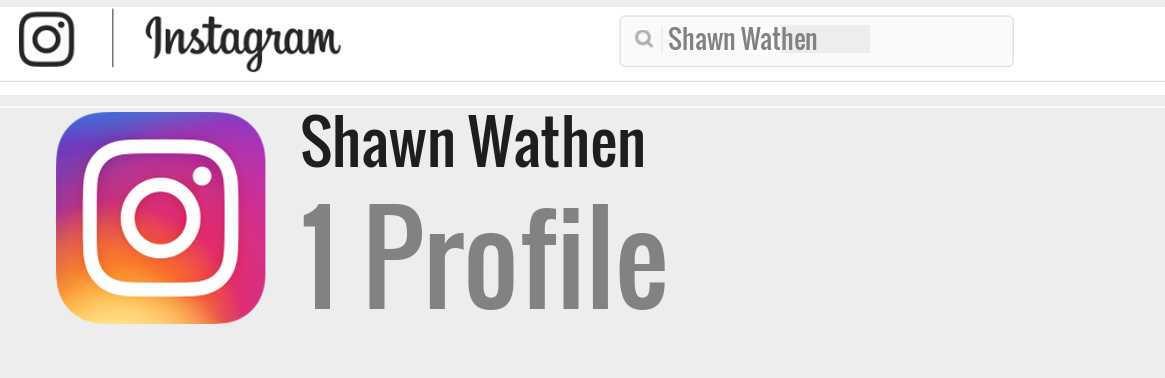 Shawn Wathen instagram account