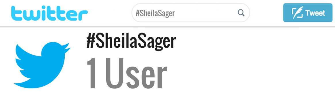Sheila Sager twitter account
