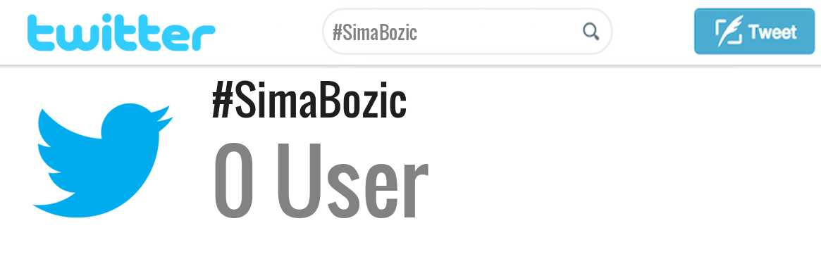 Sima Bozic twitter account
