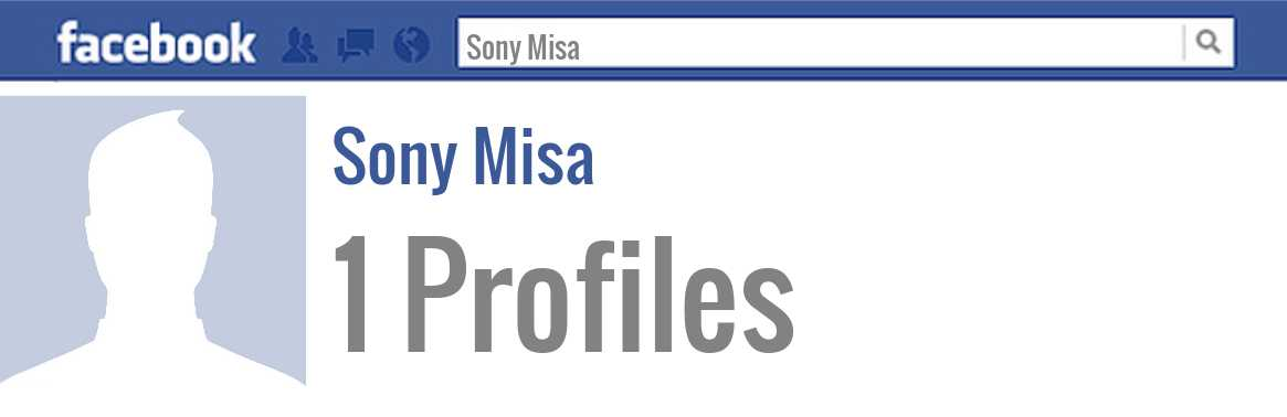 Sony Misa facebook profiles