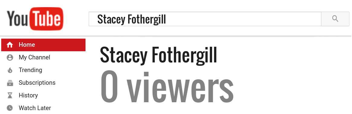 Stacey Fothergill youtube subscribers