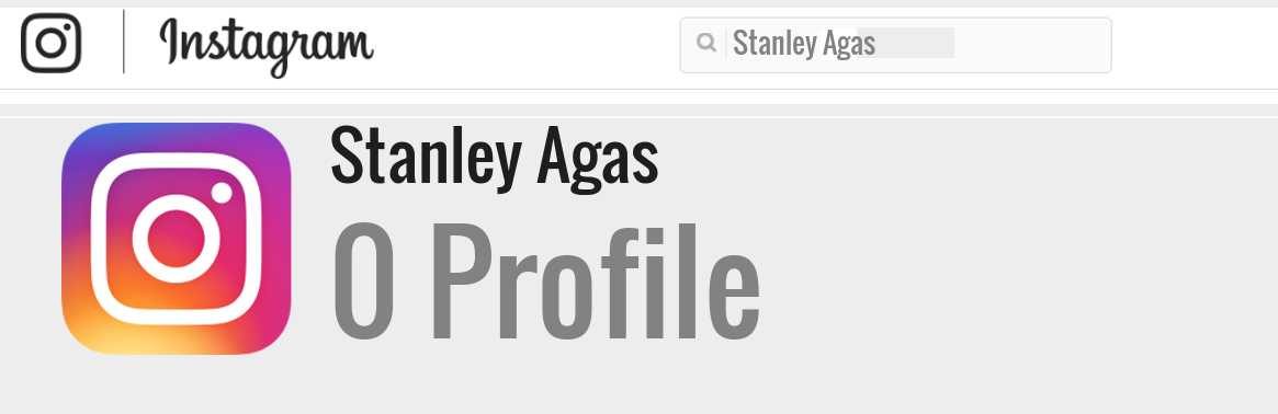 Stanley Agas instagram account