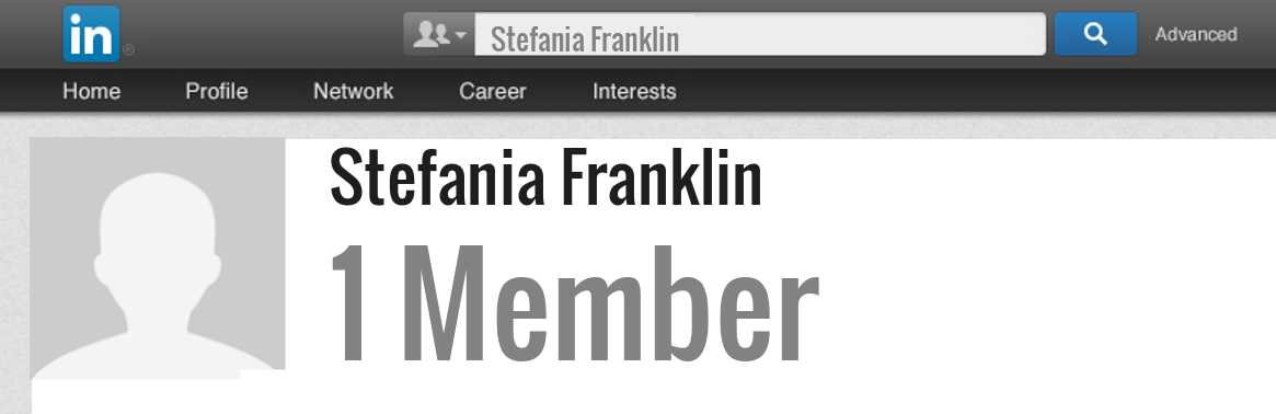 Stefania Franklin linkedin profile