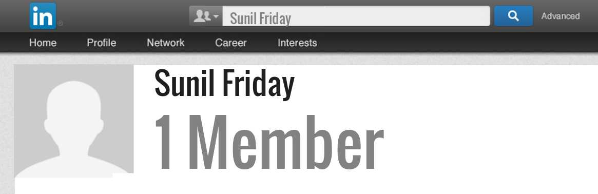Sunil Friday linkedin profile