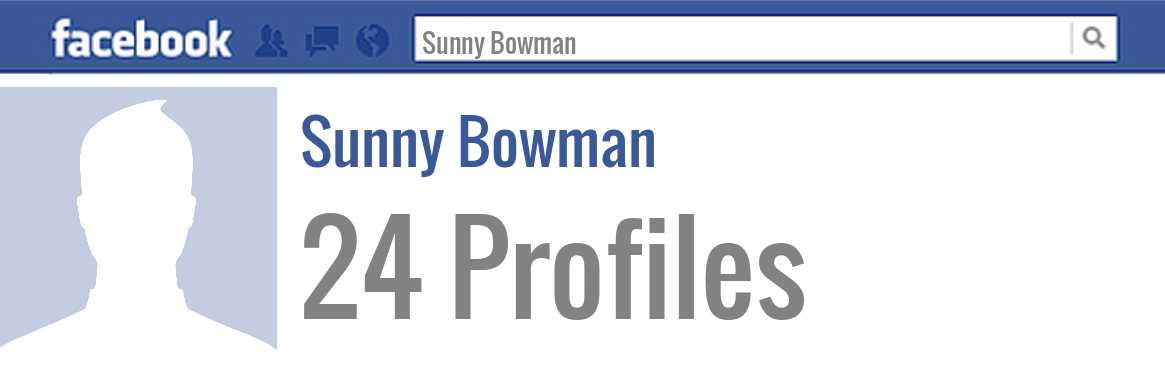 Sunny Bowman facebook profiles