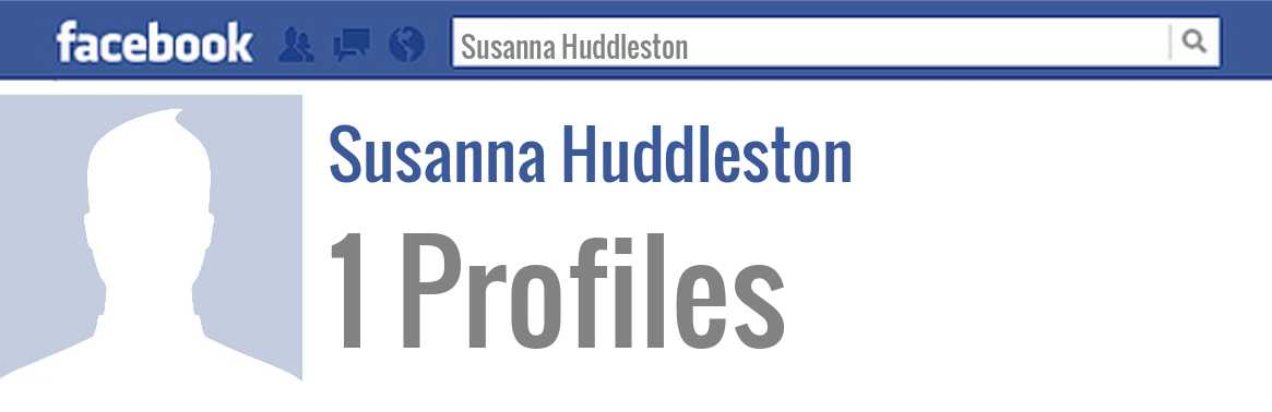 Susanna Huddleston facebook profiles