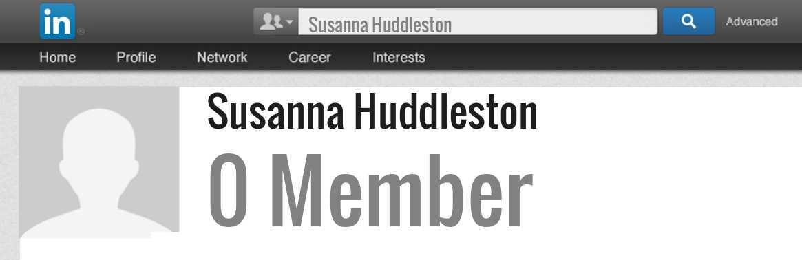 Susanna Huddleston linkedin profile