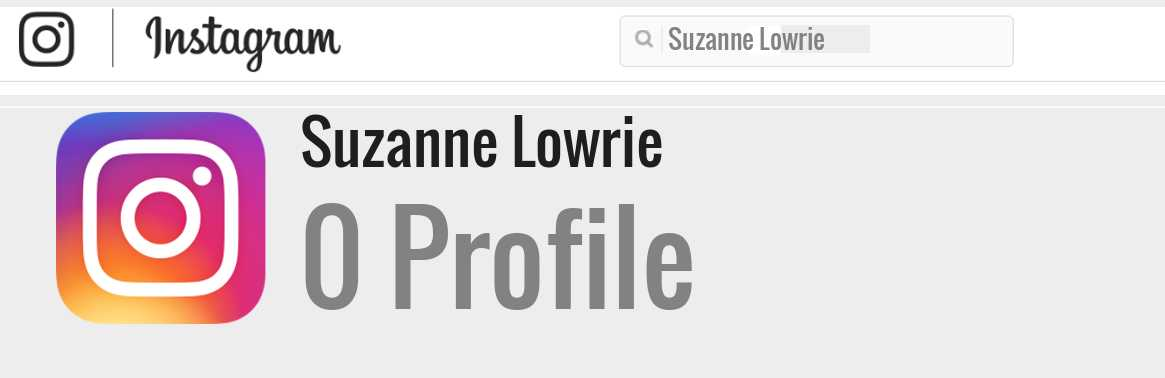 Suzanne Lowrie instagram account