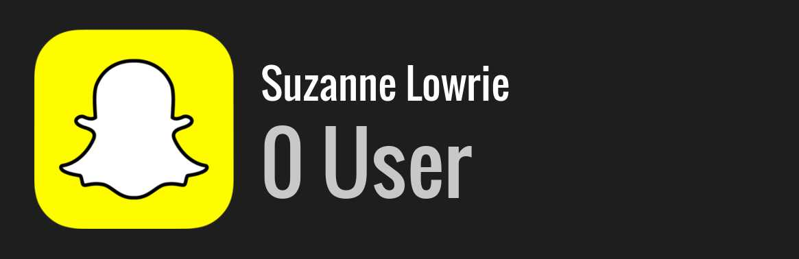 Suzanne Lowrie snapchat