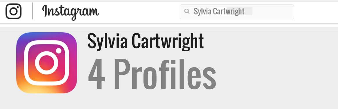 Sylvia Cartwright instagram account