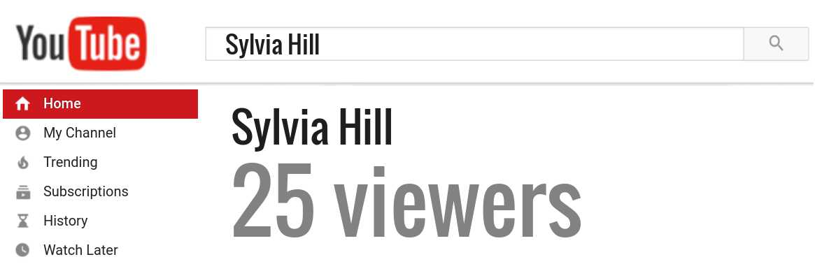 Sylvia Hill youtube subscribers