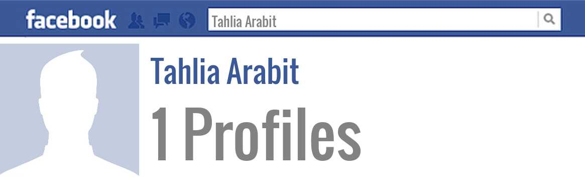 Tahlia Arabit facebook profiles