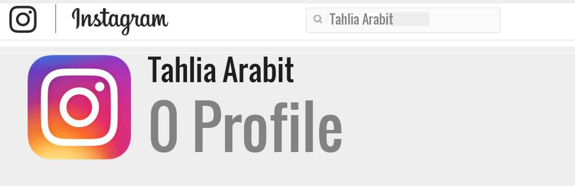 Tahlia Arabit instagram account